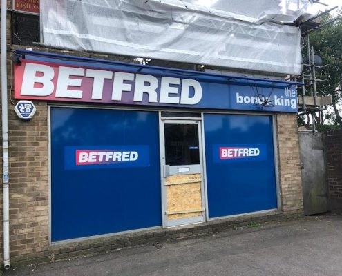 shop front installation betfred